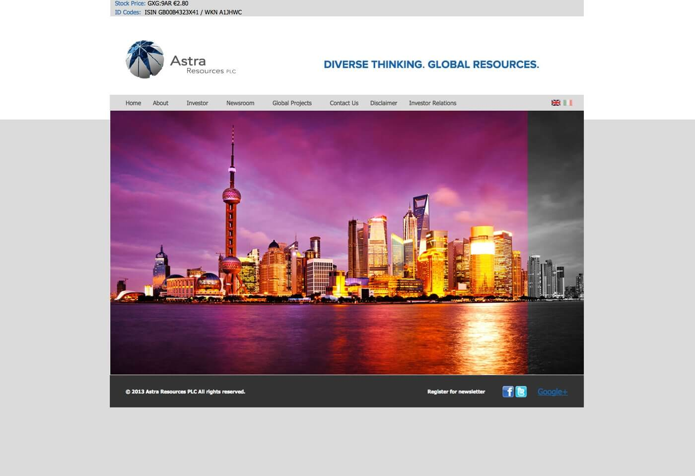 Able Video Astra Resources PLC Website