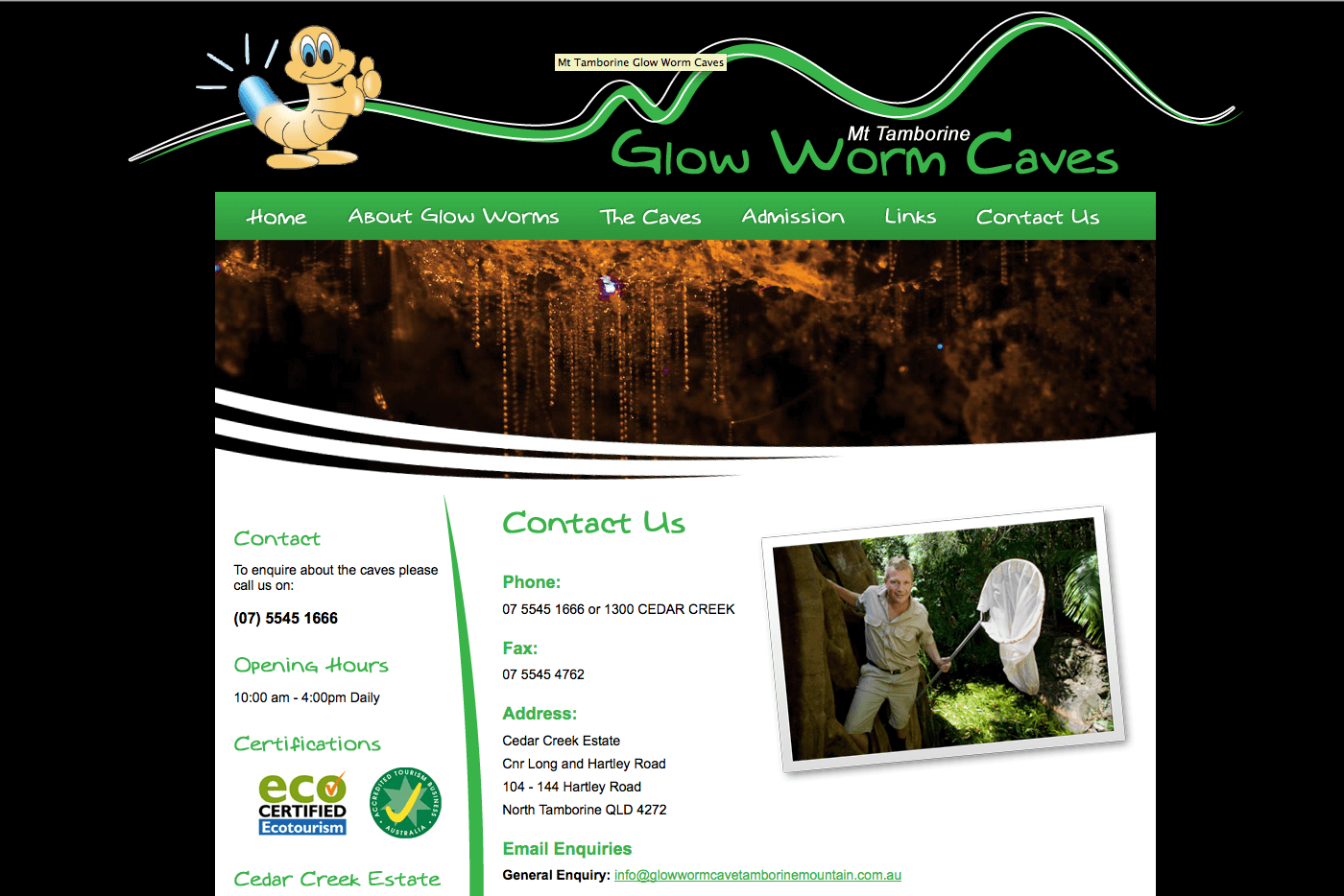 Able Video Mt Tamborine Glow Worm Caves Website 03