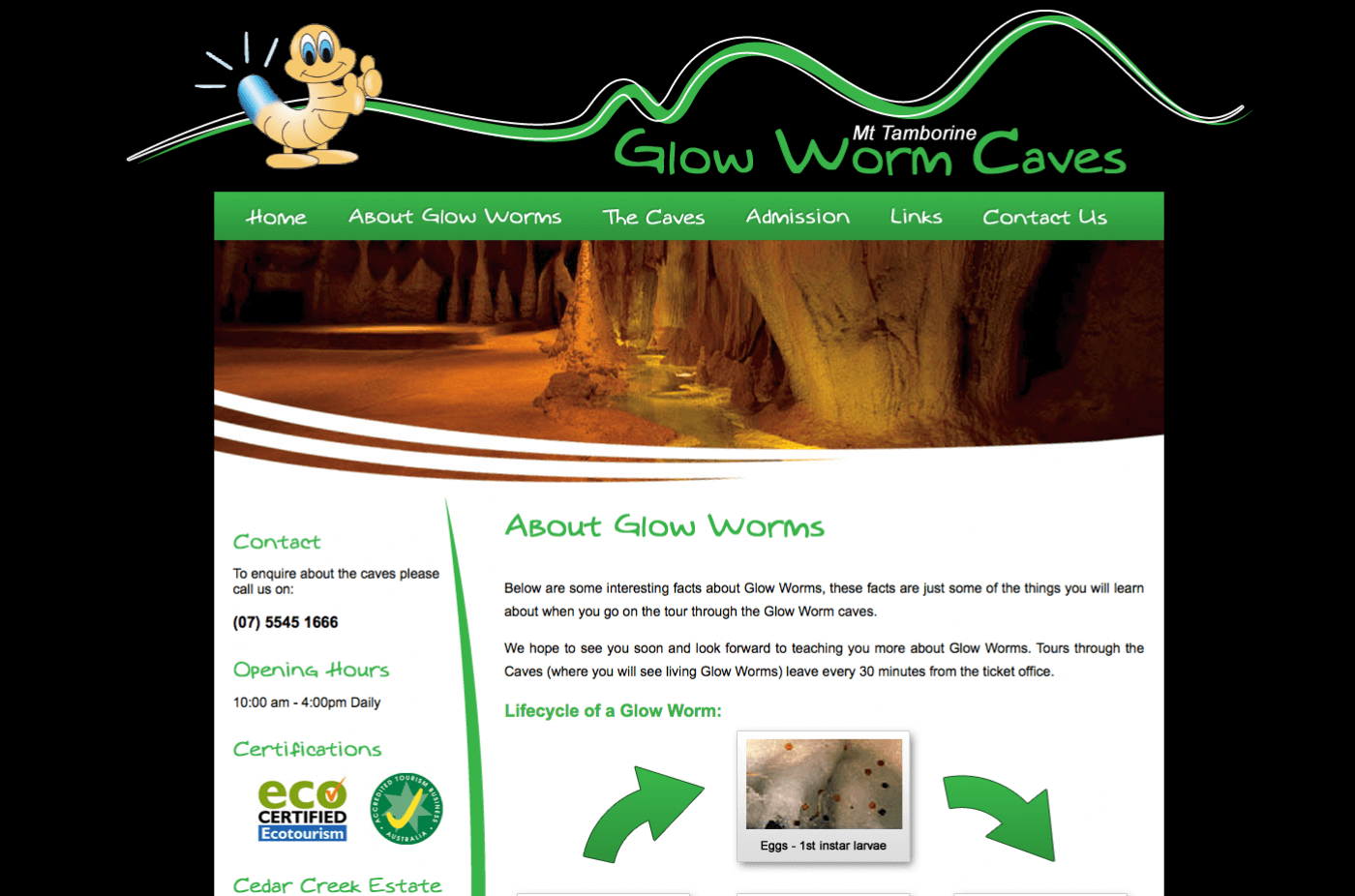 Able Video Mt Tamborine Glow Worm Caves Website 02