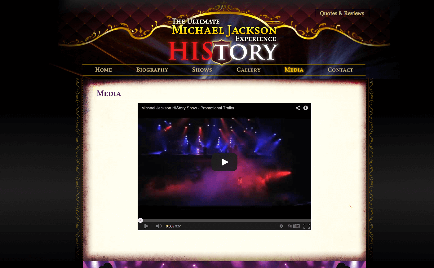 Able Video The Ultimate Michael Jackson Experience Website 03