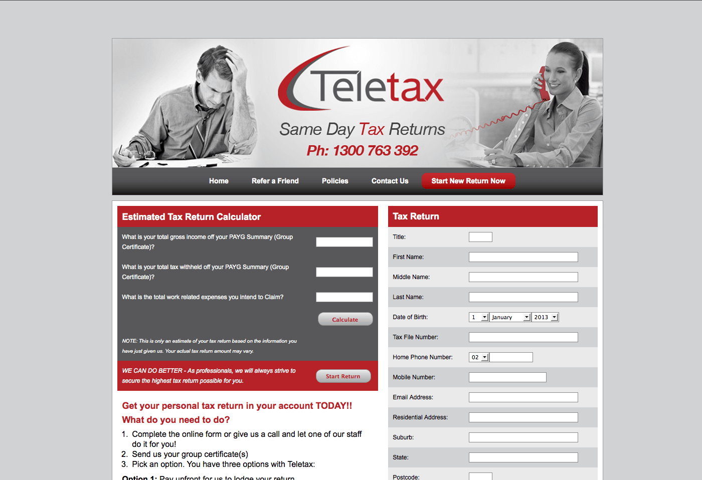 Able Video Teletax Website