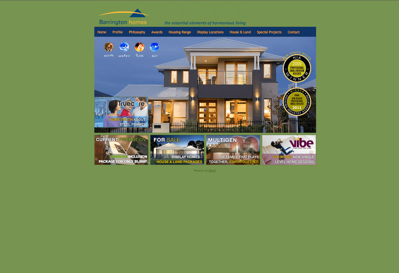 Able Video Barrington Homes Website