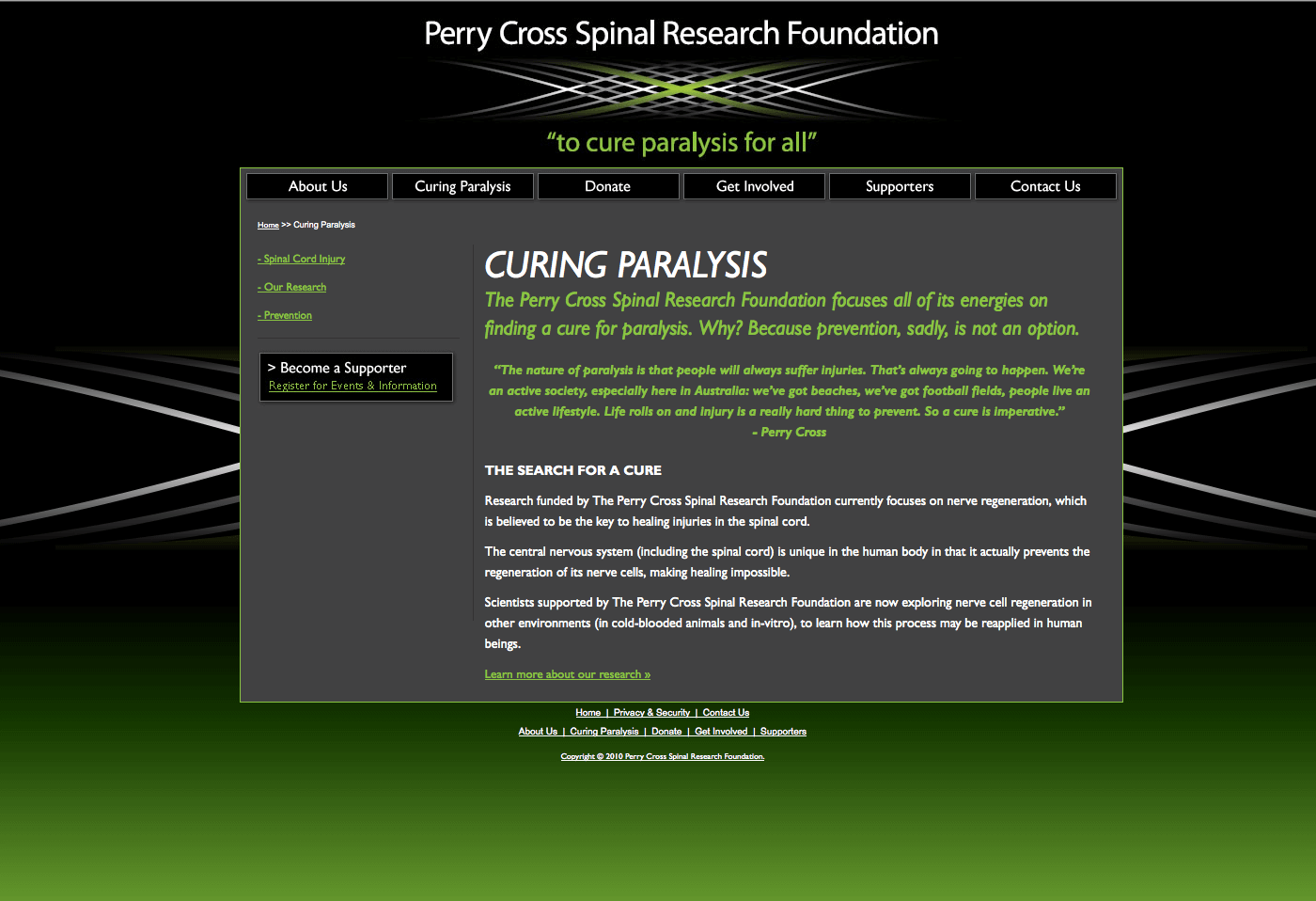 Able Video Perry Cross Spinal Research Foundation Website 03