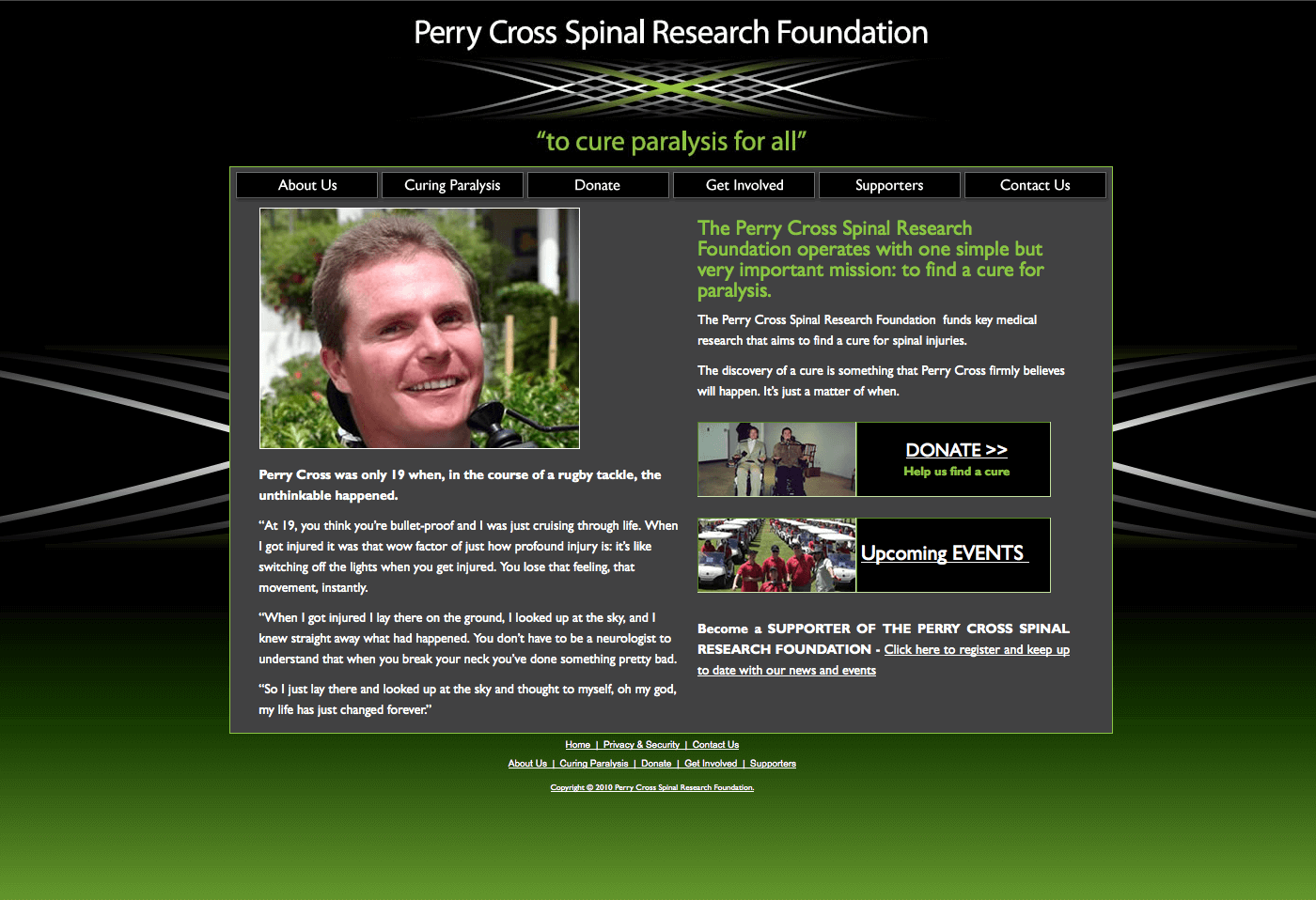 Able Video Perry Cross Spinal Research Foundation Website