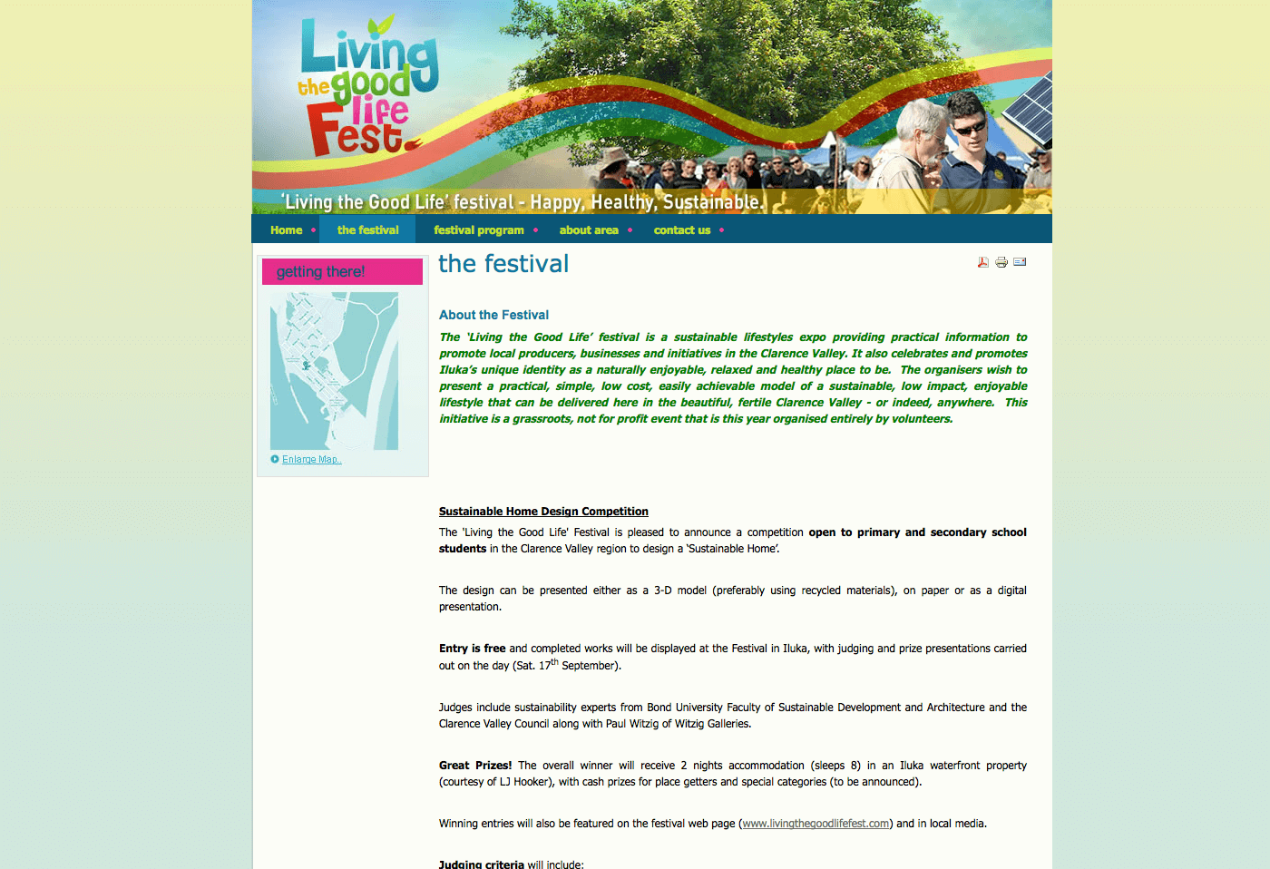 Able Video Living the Good Life Fest Website