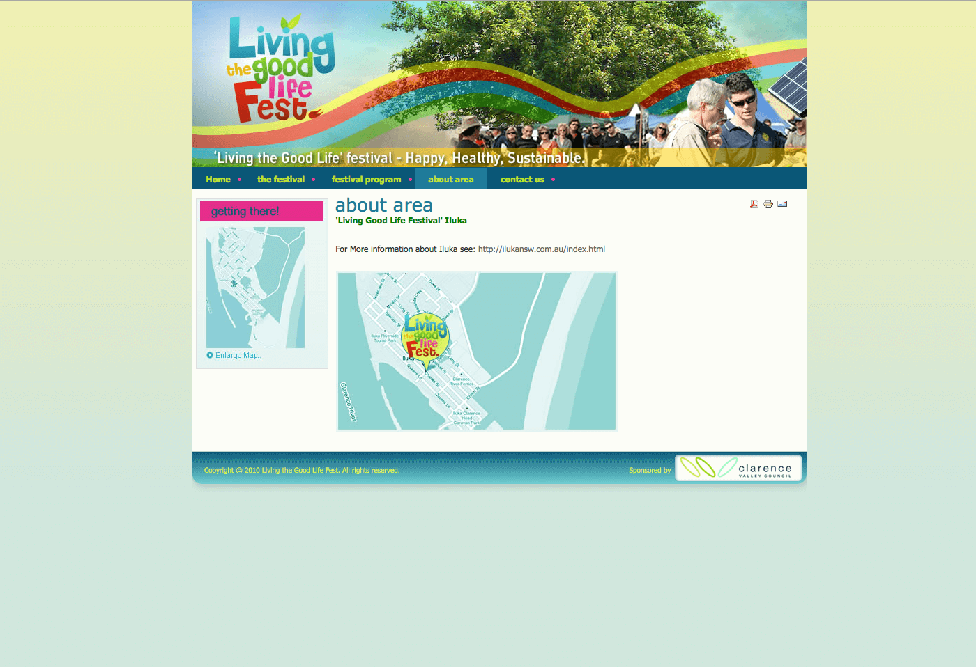Able Video Living the Good Life Fest Website 03