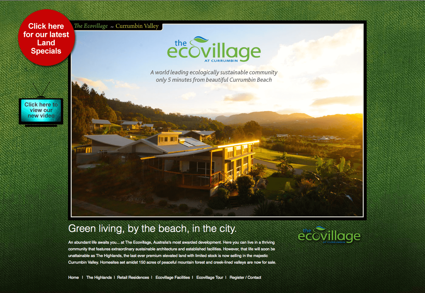 Able Video The Ecovillage at Currumbin Website