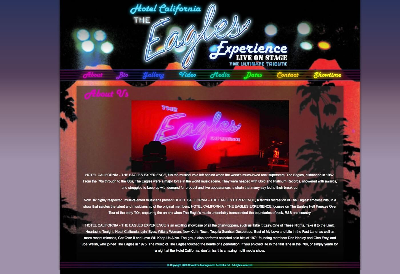 Able Video Hotel California – The Eagles Experience Website