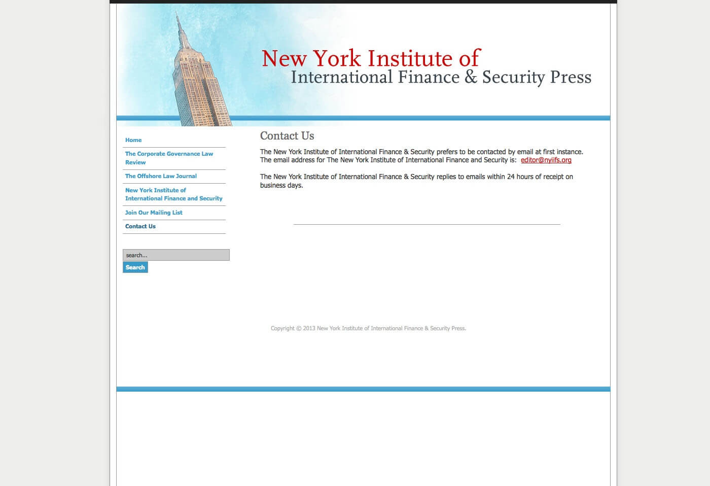 Able Video New York Institute of International Finance and Security Press Website 03