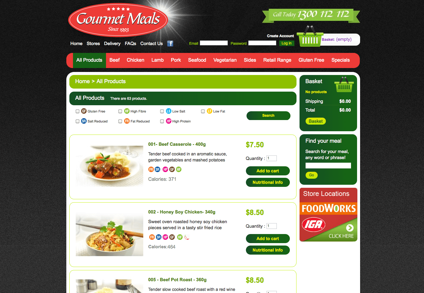 Able Video Gourmet Meals Website