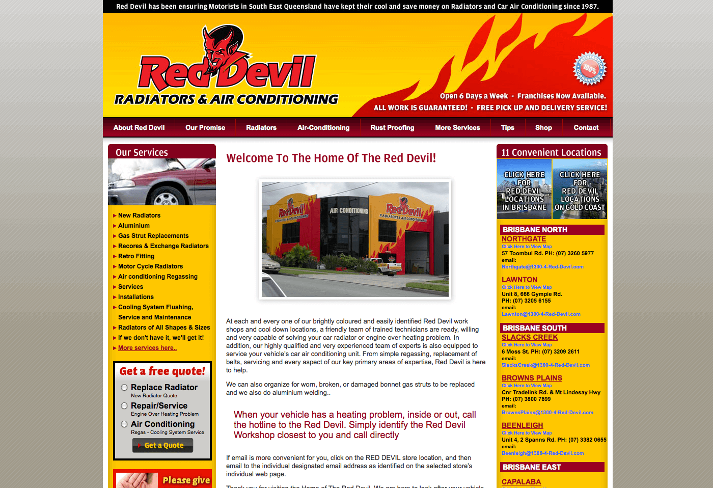 Able Video Red Devil Radiators & Air Conditioning Website
