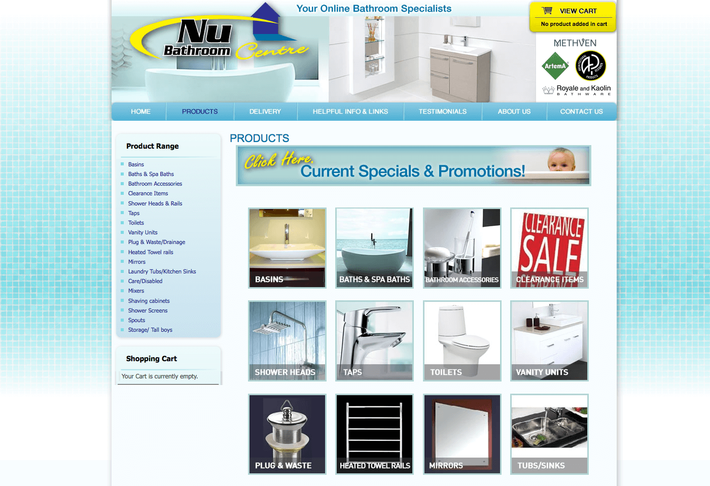 Able Video Nu Bathroom Centre Website