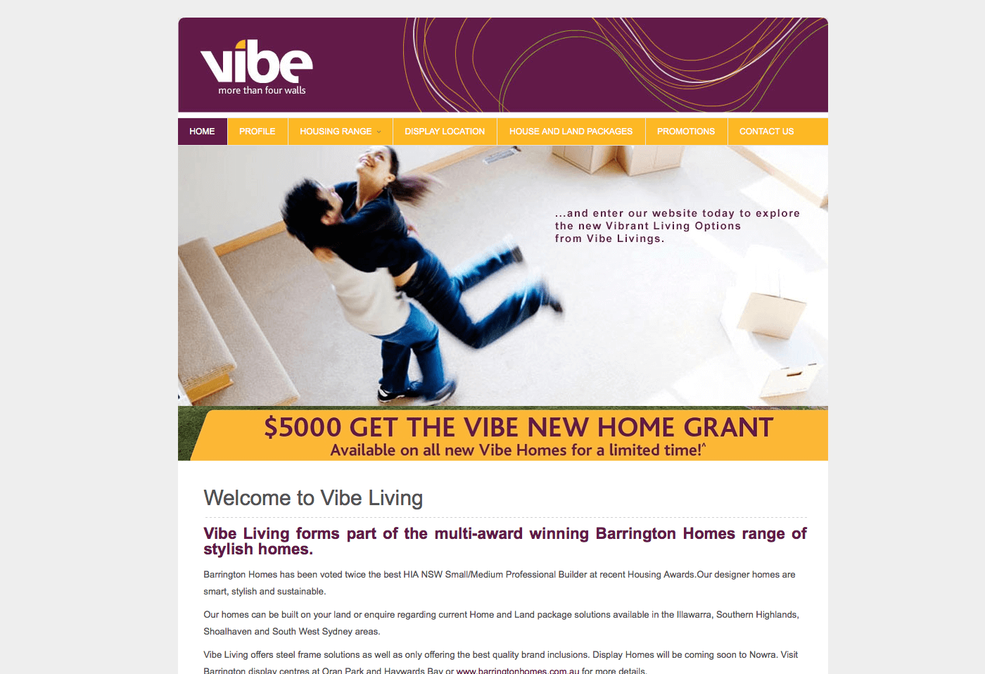 Able Video Vibe Living Website