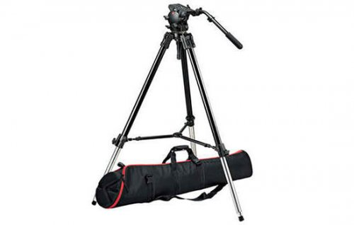 Able Video Manfrotto 526 Pro Fluid Video Head and 528Xb Tripod Equipment Hire Gold Coast