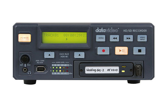 Able Video Data Video HDR-40 Recorder Equipment Hire Gold Coast