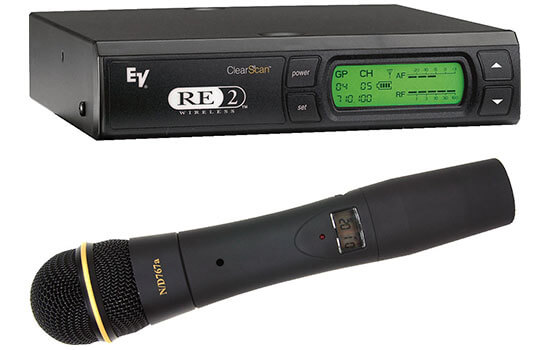 Able Video Electrovoice RE-2 Handheld Radio Microphone Equipment Hire Gold Coast