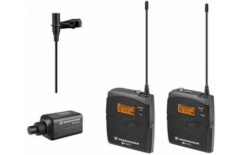 Able Video Sennheiser Radio Microphone EW100 with Beltpack or SKP100 Handheld Transmitter Equipment Hire Gold Coast