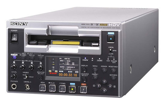 Able Video Sony HVR 1500 HDV DVCam Cassette Recorder Equipment Hire Gold Coast