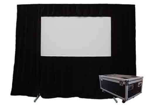 Able Video Q Fold H120QF Projector Screen Equipment Hire Gold Coast